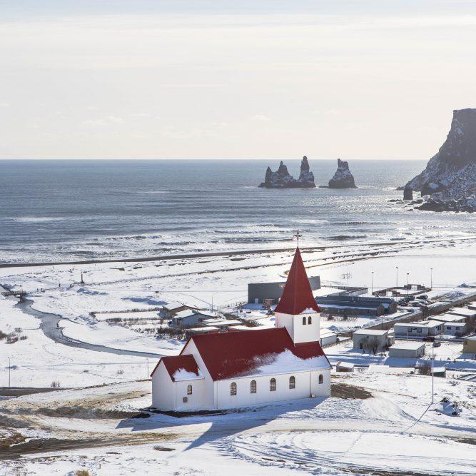 Eislandschaft und Nordlichter (ISE1)